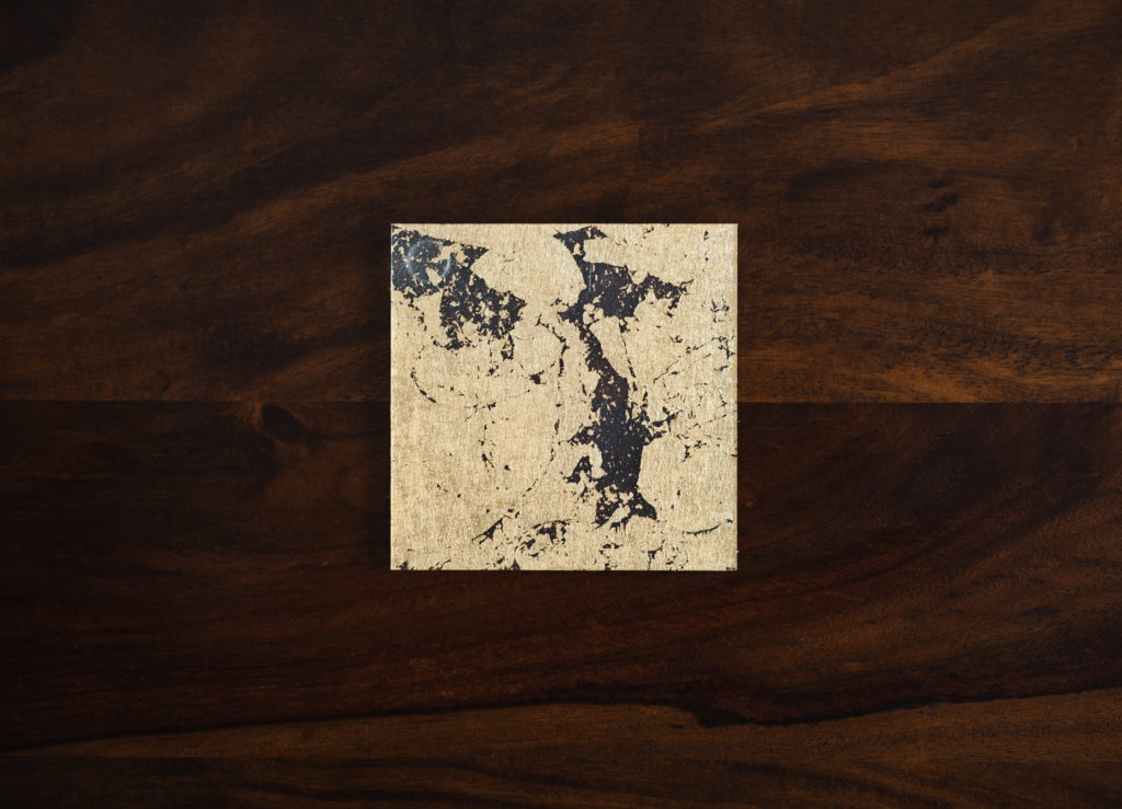 Resin8 Gilded Gold Translucent Coasters Modern Coasters